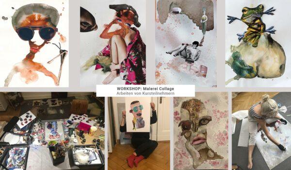 Workshop, Kunstkurs, Malerei, Collage