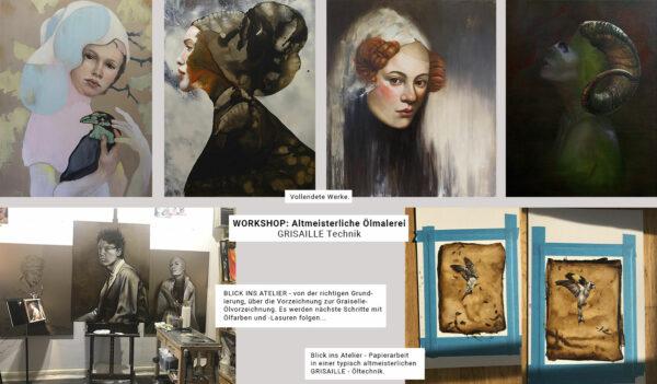 Workshop, Kunstkurs, Altmeisterliche Ölmalerei, GRISAILLE Technik, Kunstkurs